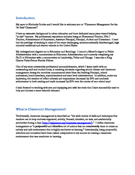 """Classroom Management for the """"At Risk"""" Classroom"""