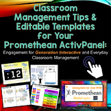 Editable Classroom Management for the Promethean ActivPanel and ActivInspire