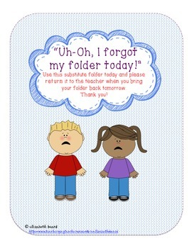 Classroom Managent and Organization: Uh-Oh FolderManagement