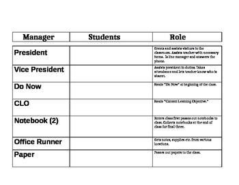 Classroom Manager Template