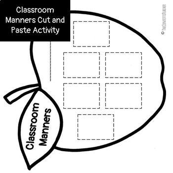 Classroom Manners Social Story and Activity