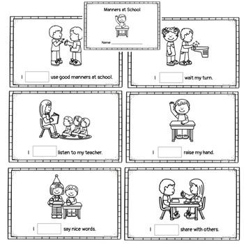 Classroom Manners Mini Book
