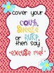 Classroom Manners Posters