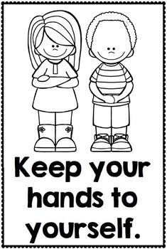 manners coloring pages - classroom manners and expectations posters social skills