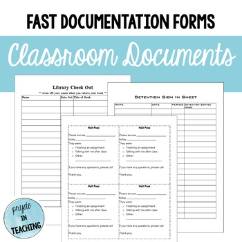 Classroom Master Documents
