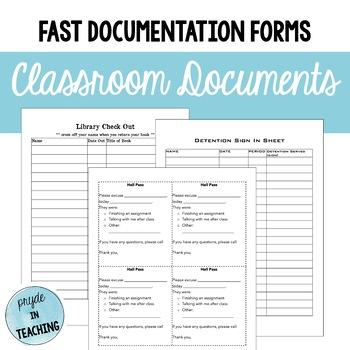 Classroom Master Documents