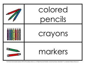 Classroom Materials Labels