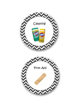 Classroom Materials Labels Chevron