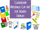 Classroom Materials Procedure Tools
