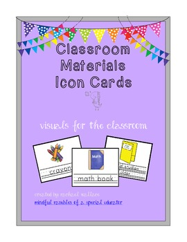 Classroom Materials Visual Cards