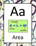 Classroom Math Alphabet