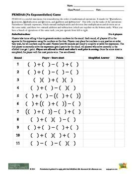 Classroom Math Games