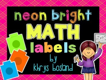 Classroom Math Manipulative Labels and Calendar Decor Only