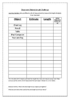 Classroom Measurement Challenge
