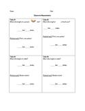 Classroom Measurements Worksheet