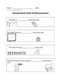 Classroom Measurements using Nonstandard Units of Measurement