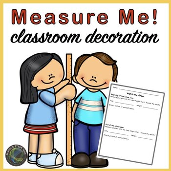 Classroom Measuring Chart for the Wall:  Animal Themed