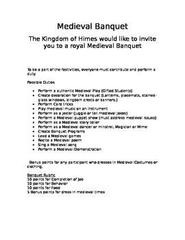 Classroom Medieval Banquet