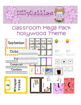 Classroom Mega Pack, Hollywood Theme
