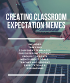 Classroom Meme Task Card and Template for Students