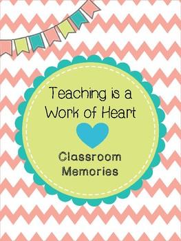 Classroom Memories Binder Cover