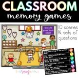 Classroom Memory: 10 Virtual Rooms & Questions Morning Mee
