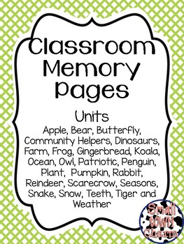 Classroom Memory Pages-Classroom Units