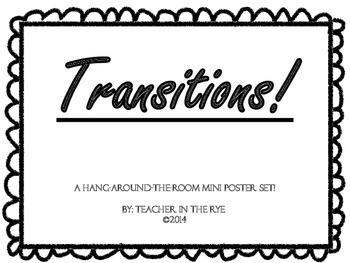 Classroom Mini Poster Set: Transitions