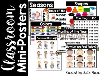 Classroom Mini-Posters {8 Simple Classroom Posters}