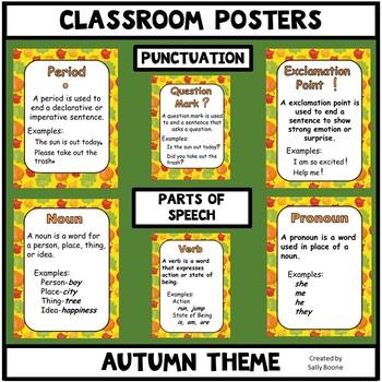 Classroom Mini-Posters Autumn Theme
