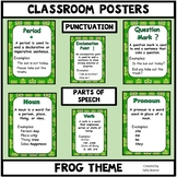 Grammar Posters-Parts of Speech, Punctuation Marks with a Frog Theme