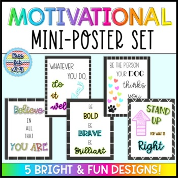 Classroom Mini Posters: Motivational Quotes!