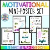 Classroom Mini Posters: Motivational Quotes!