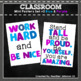 Classroom Mini Posters Set 2 Blue and Purple