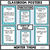 Grammar Posters-Parts of Speech, Punctuation Marks with a Winter Theme