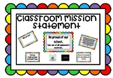 Classroom Mission Statement Pack
