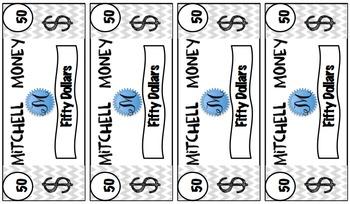 Classroom Money- $50 bill