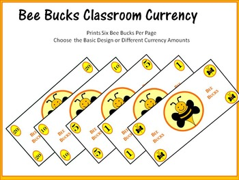 Classroom Money (Bee Bucks Rewards, Classroom Management, and Currency)