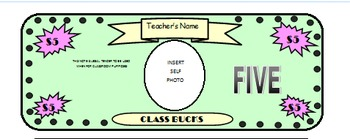 Classroom Money/Behavior System