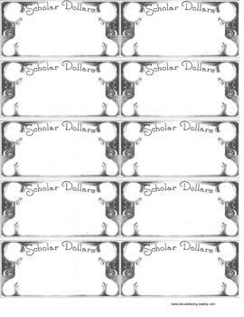 Classroom Money- Classroom Economy -Scholar Dollars money