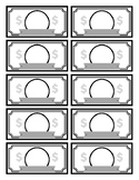 Classroom Money Dollars Blank Template