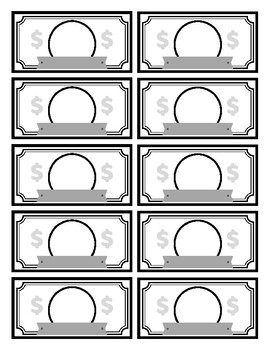 It's just an image of Lively Printable Play Money Black and White Pdf