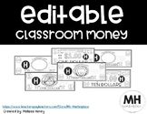 Classroom Money - EDITABLE