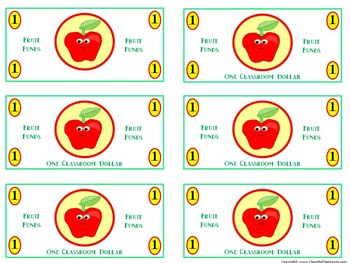 Classroom Money (Fruit Funds Rewards, Classroom Management, and Currency)