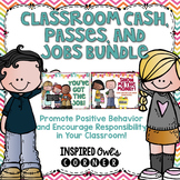 Classroom Money, Passes, and Jobs Bundle