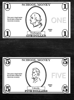 Classroom Money Template