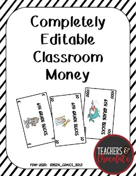 photograph about Classroom Money Printable identified as Clroom Revenue Template - Comprehensively Editable