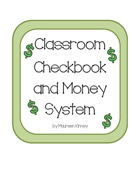 Classroom Money and Checkbook System