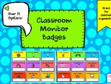 Classroom Monitor Job Badges