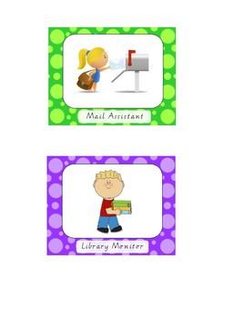 Classroom Monitors / Helpers / Jobs Display
